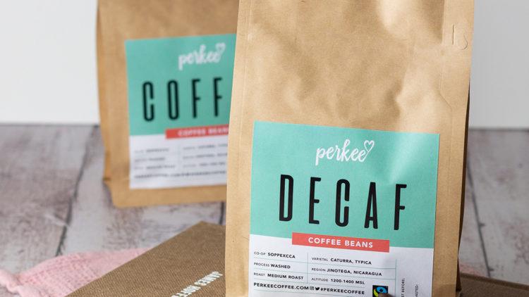 Perkee decaf coffee